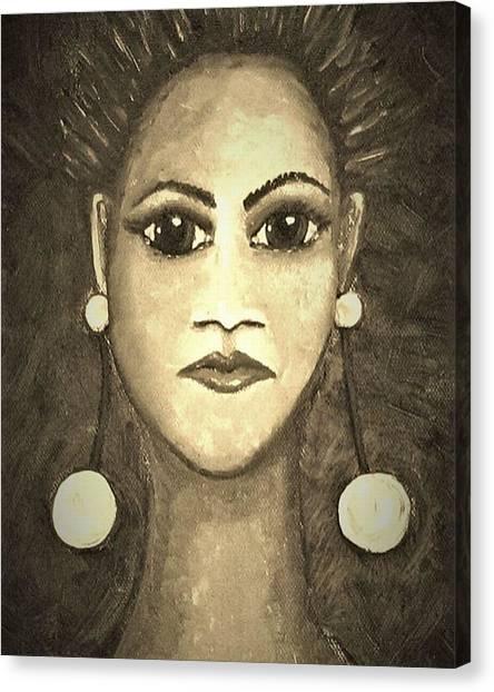 Canvas Print - Smoking Woman 1 by Joan Stratton