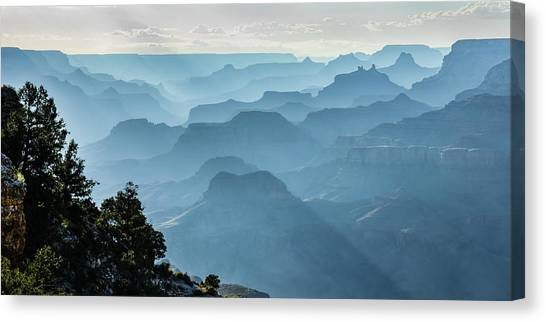 Canvas Print featuring the photograph Smoky Canyons by Steven Sparks