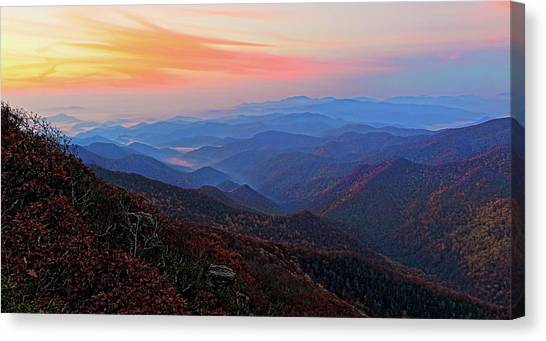 Dawn From Standing Indian Mountain Canvas Print