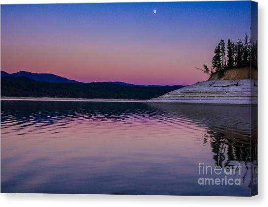 Boise National Forest Canvas Print - Smoky Moonlight Idaho Landscapes By Kaylyn Franks by Kaylyn Franks