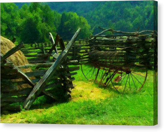 Smoky Mountain Farm 1900s Canvas Print