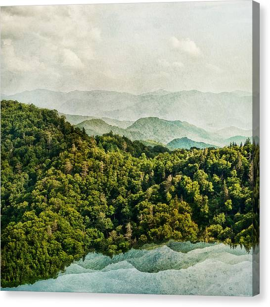 Smoky Mountain Reflections Canvas Print