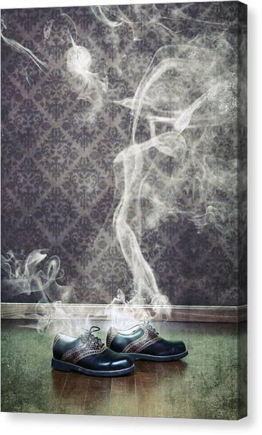 Golf Canvas Print - Smoky Shoes by Joana Kruse