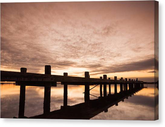 Seaside Heights Canvas Print - Smooth Bay by Kristopher Schoenleber