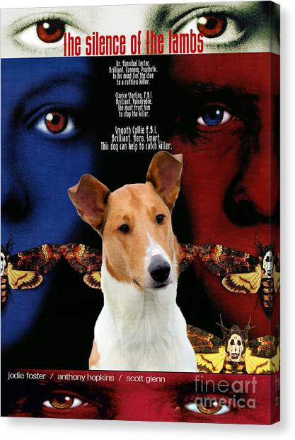 Silence Of The Lambs Canvas Print - Smooth Collie Art Canvas Print - The Silence Of The Lambs Movie Poster by Sandra Sij