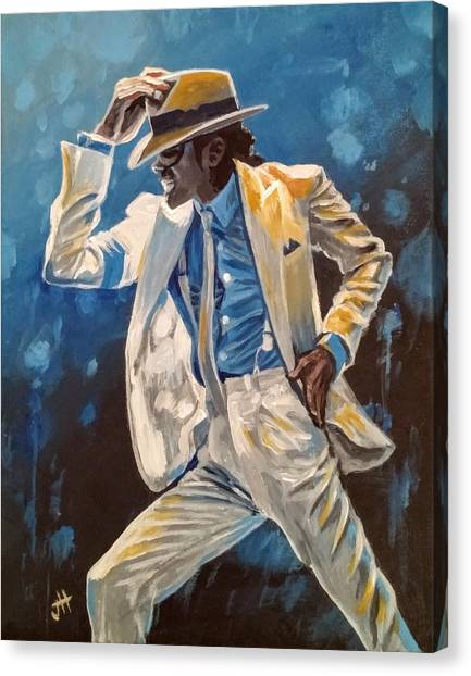 Canvas Print featuring the painting Smooth Criminal by Jennifer Hotai