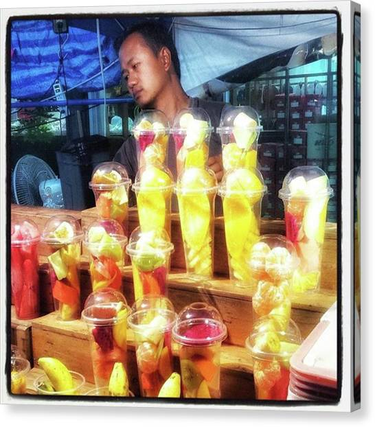 Canvas Print featuring the photograph Smoothie Nirvana. Choose A Cup Of by Mr Photojimsf