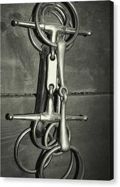 Snaffle Bits Tack Canvas Print by JAMART Photography