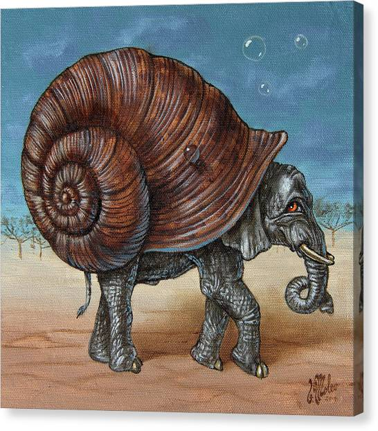 Snailephant Canvas Print