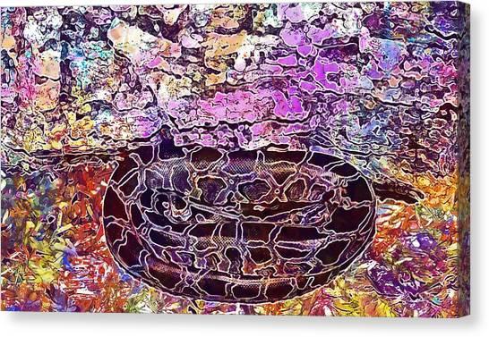Burmese Pythons Canvas Print - Snake Burmese Python Young Animal  by PixBreak Art