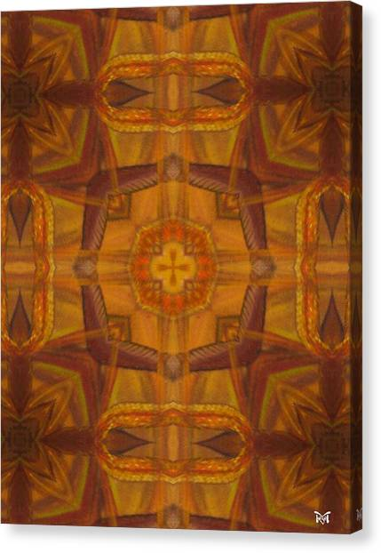 Snake Cross Canvas Print