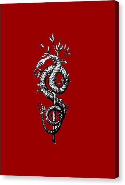Snake Of Wisdom Canvas Print