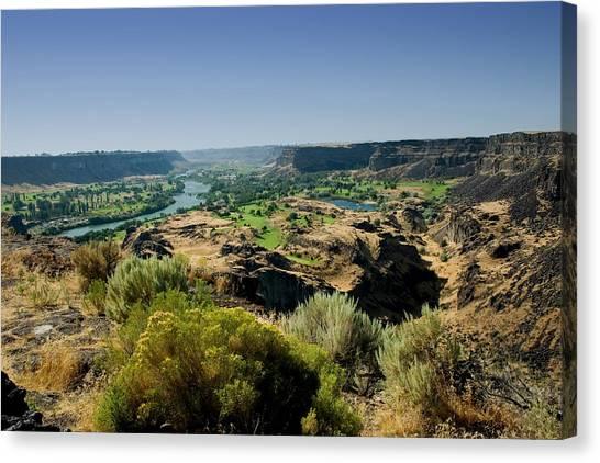 Snake River Canyon Canvas Print by Brendon Bradley