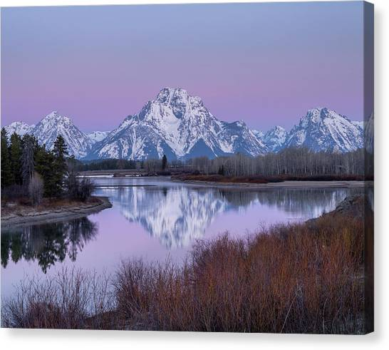 Canvas Print featuring the photograph Snake River // Grand Teton National Park  by Nicholas Parker