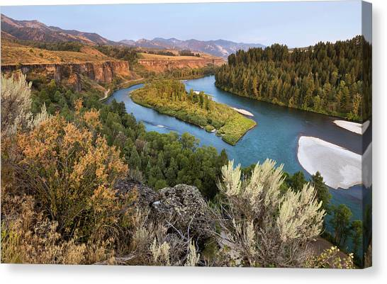 Snake River - Heise Road Canvas Print by David Halter