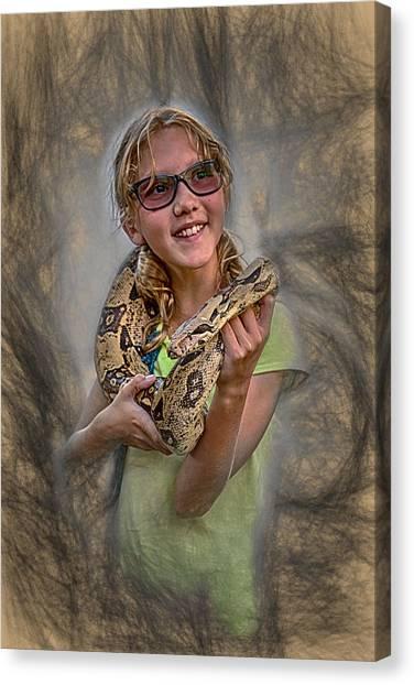 Snake Wrap Canvas Print by John Haldane