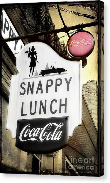Snappy Lunch Canvas Print