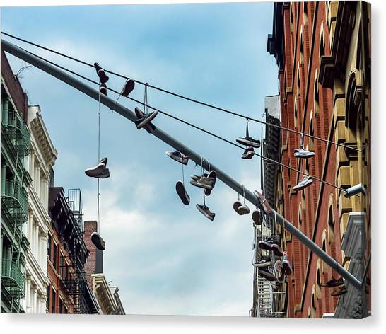 Sneakers From Up Above Canvas Print