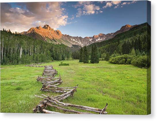 Sneffels Fence Horizontal Canvas Print