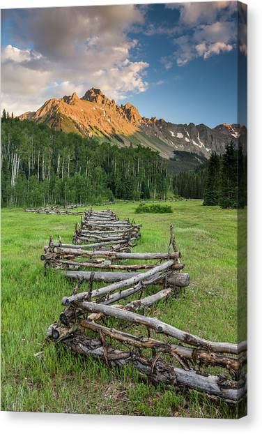 Sneffels Fence Vertical Canvas Print