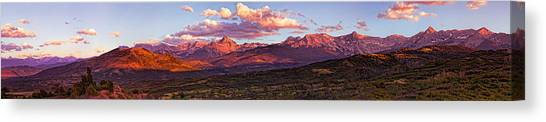Sneffel's Range Sunset Canvas Print