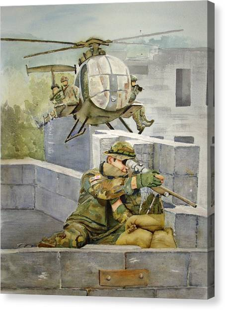 Sniper Military Tribute Canvas Print by Kerra Lindsey