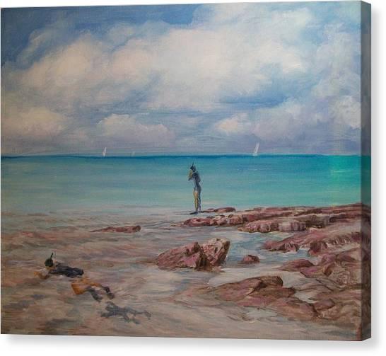 Snorkling In Aruba Canvas Print