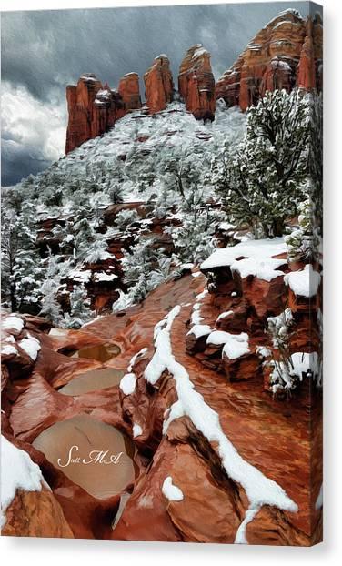 Snow 06-068 Canvas Print