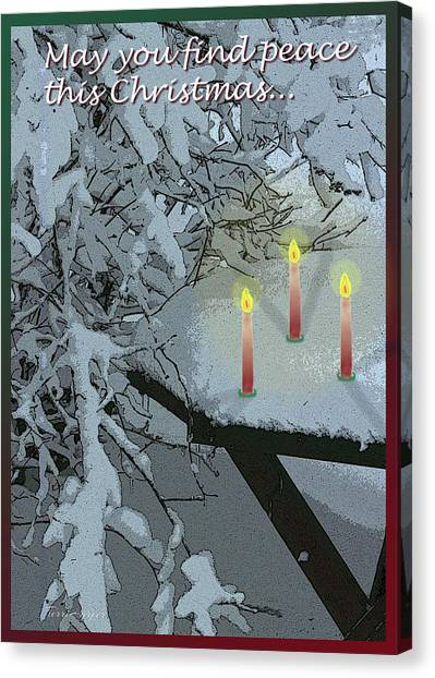 Snow And Candlelight Canvas Print