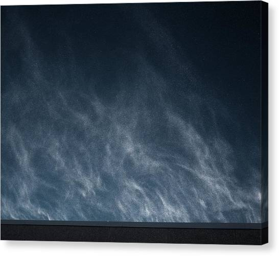 Canvas Print featuring the photograph Snow Blown Off A Roof by Dutch Bieber
