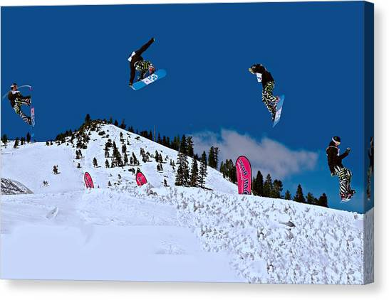 Snow Boarder Canvas Print
