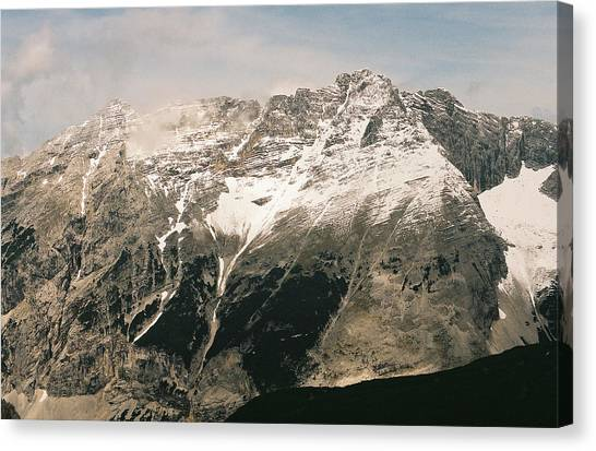 Snow Capped Austrian Summer Canvas Print by Patrick Murphy