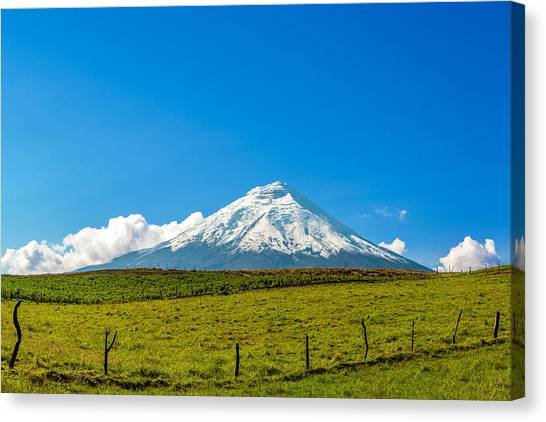 Cotopaxi Canvas Print - Snow Capped Cotopaxi Volcano by Jess Kraft