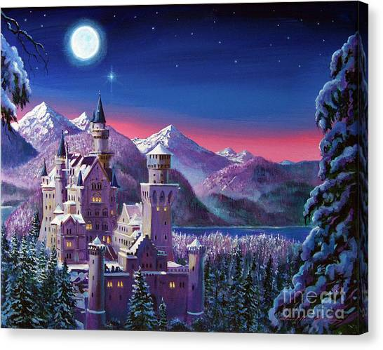 Castle Canvas Print - Snow Castle by David Lloyd Glover