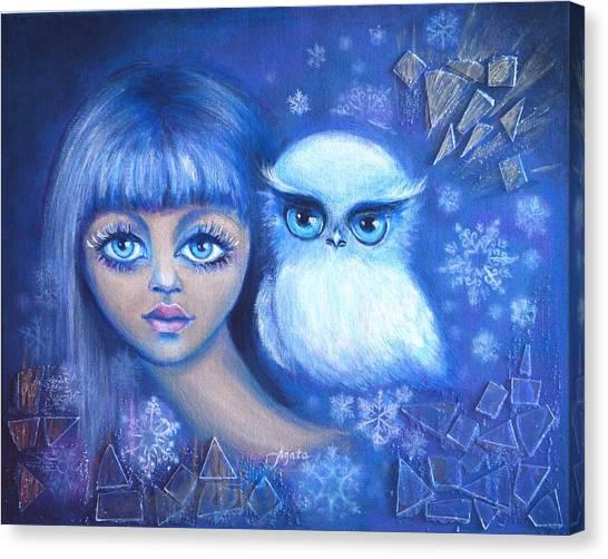 Snow Children Canvas Print