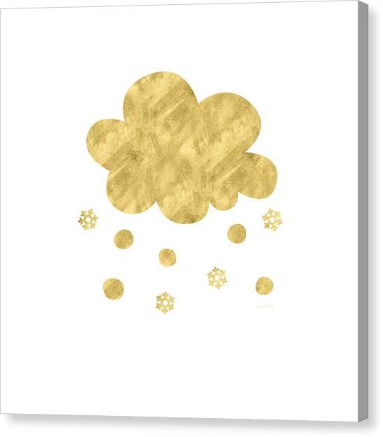 Winter Canvas Print - Snow Cloud- Art By Linda Woods by Linda Woods