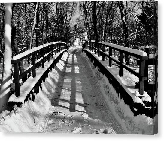 Snow Covered Bridge Canvas Print