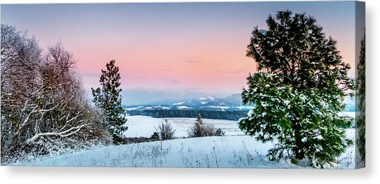 Snow Covered Valley Canvas Print