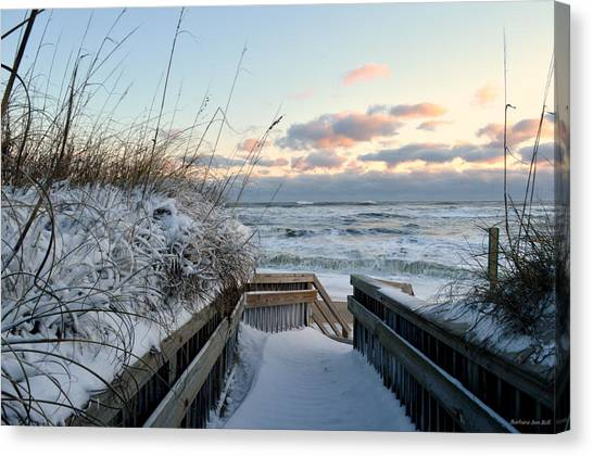 Snow Day At The Beach Canvas Print
