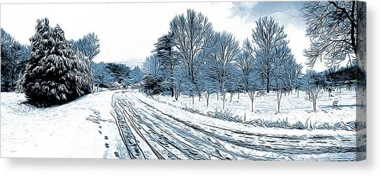 Landscapes Canvas Print - Snow Day by Greg Joens