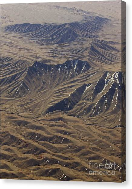 Hindu Kush Canvas Print - Snow Drifts In Afghan Mountains by Tim Grams