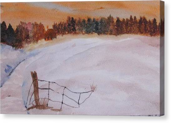 Snow Drifts Canvas Print by Trilby Cole