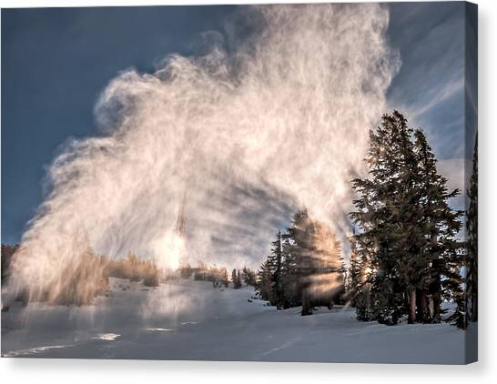 Snow Flume Canvas Print
