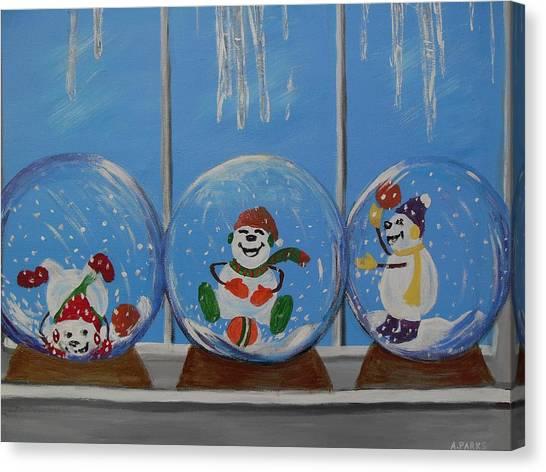 Snow Globes Canvas Print