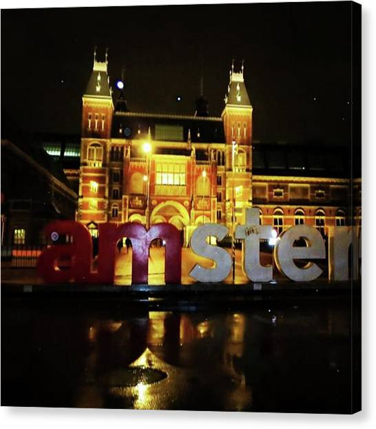Rijksmuseum Canvas Print - Snow In Amsterdam ... #holland by Maritha Graph