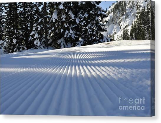 Snow Is Groovy Man Canvas Print