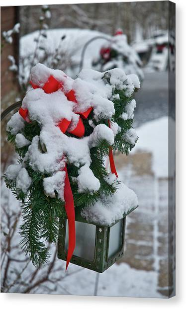 Snow Latern Canvas Print