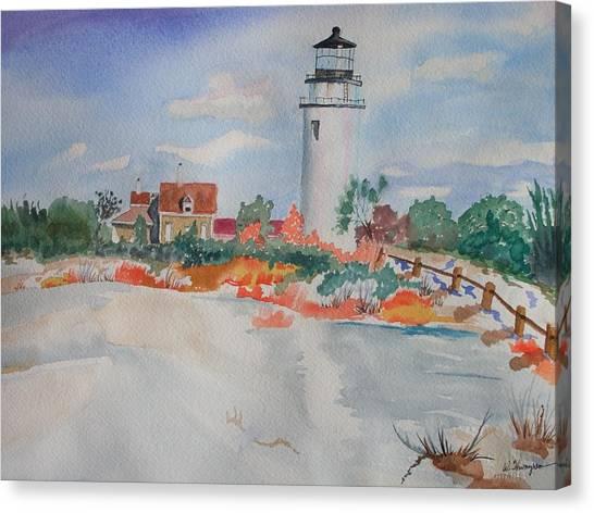 Snow Light At Cape Cod Canvas Print by Warren Thompson