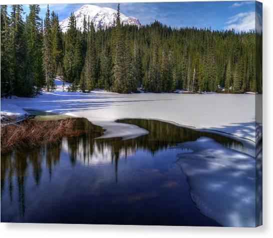 Snow-melt Revelations Canvas Print
