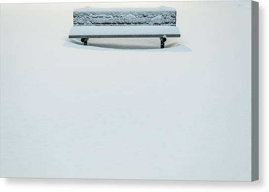 Snow Bank Canvas Print - Snow Minimalist by Kristopher Schoenleber